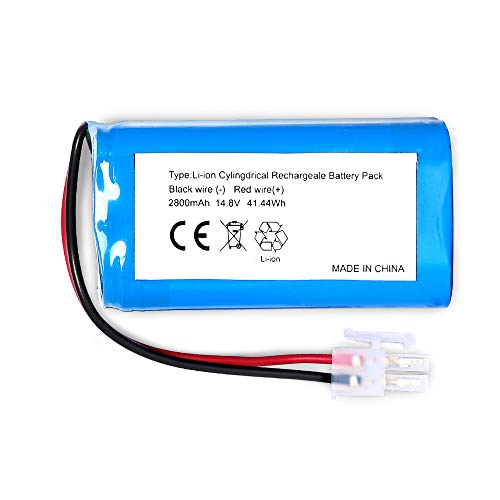 Hovo510 Plus BQBS1003 Ni-Mh Rechargeable Battery Compatible with Hovo 510 Series and bObi Robotic Vacuums bObi pet BQBS1000 14.4V 2200mAh Replacement Battery Hovo 510