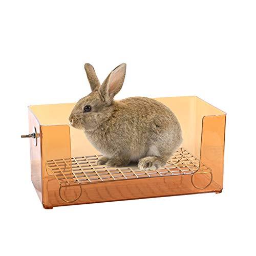 kathson Small Animal Litter Box, Pet Trainer Corner Litter Bedding Toilet Pet Pan for Bunny, Guinea Pigs, Chinchilla, Ferret, Hamster