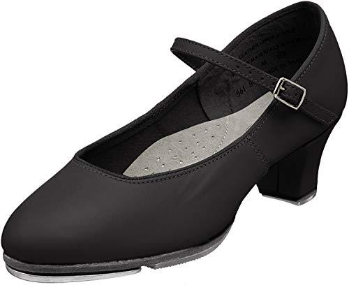 Capezio womens Jr. Footlight Tap Shoe, Black, 10.5 M US