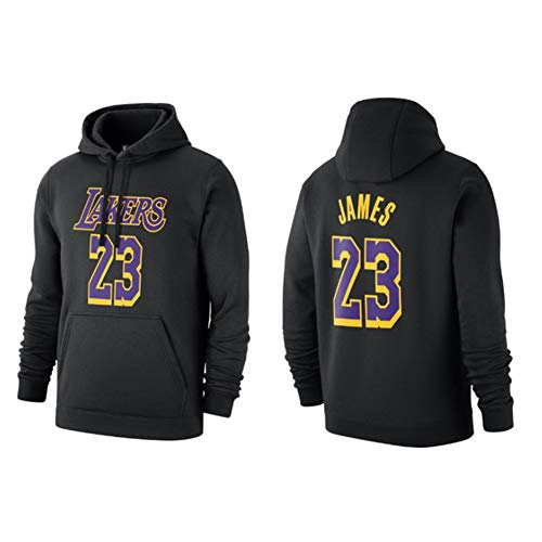 GZZ Sudadera Con Capucha De Baloncesto Para Hombres Y Mujeres Sudadera LeBron James # 23 Los Angeles Lakers Chaqueta Fina De Manga Larga De Entrenamiento Suelto/Jogging (Color : Black d, Size : M)