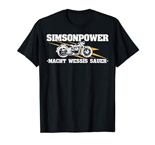 Simsonpower Oldtimer Moped Simson Awo T-Shirt