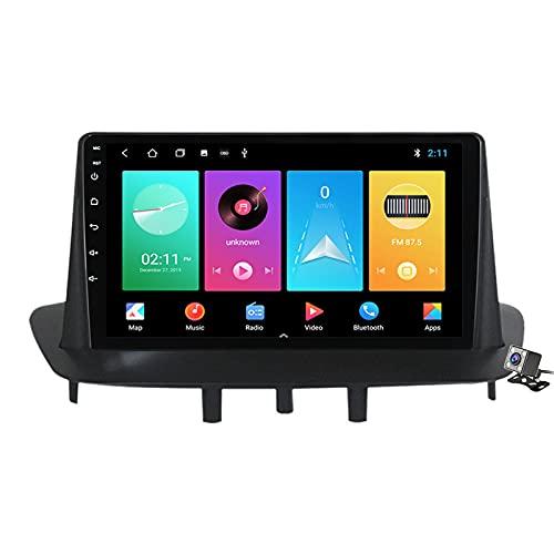 Buladala Android 11 Autoradio Double DIN Car Stereo para Renault Megane 3 2008-2014 Soporta FM Am RDS DSP SWC 4G/5G WiFi/Navegación GPS/Bluetooth/Carplay Android Auto/Contiene Cámara,M100s