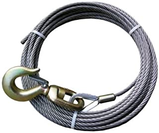 7//16 x 125 Fiber Core with Self Locking Swivel Hook BA Products Ships in 1 to 2 Business Days 4-716PS125LH Winch Cable