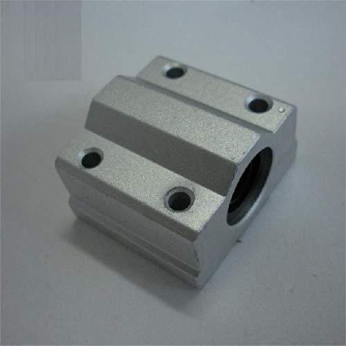 XBaofu 2 Pcs SC12UU SCS12UU Bolas de Movimiento Lineal cojinetes de Deslizamiento de Bloque de Boquilla de 12mm Soporte de Eje Eje con CNC de Piezas