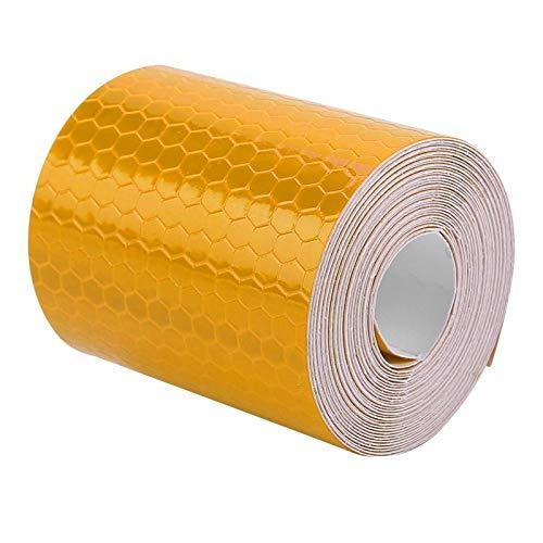 Adhesivo de seguridad práctico y duradero, ideal para bicicletas, camiones, remolques, botes para remolques, autos, bicicletas para conductores,(Orange)
