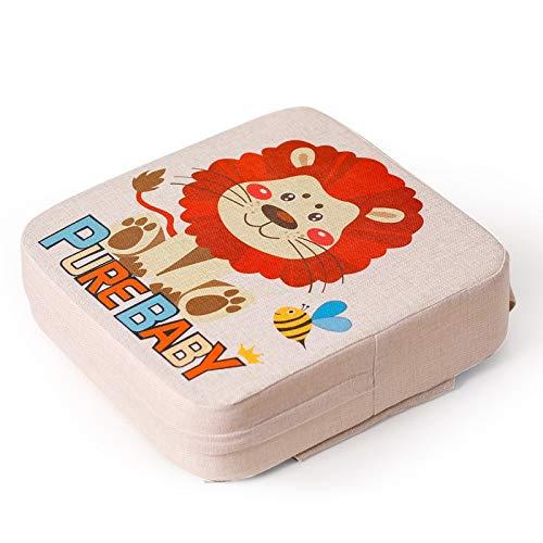 TITST Cuscini Imbottiti per Bambini Booster per Bambini con Cinghie Regolabili e Fibbie per Sedia da Pranzo per Bambini Comodo 39 x 39 x 10 CMA-Lion