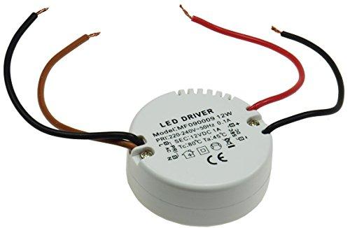 ChiliTec elektronischer LED Trafo 12V 12Watt Rund für UP Dosen Rund Ø55mm Geeignet für Unterputz Einbau 60-68mm UP-Dosen