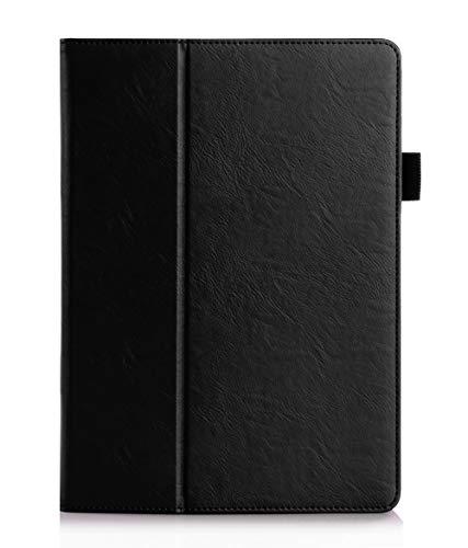 ISIN Premium PU-Leder Schutzhülle Tasche Stand Cover für Huawei Mediapad M2 10 M2-A01W M2-A01L(Schwarz)