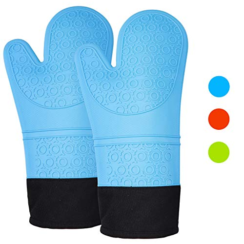 SZCLIMAX Oven Mitts and Pot Holders, Heat-Resistant & Waterproof & Quilted Liner Oven Mitt, Extra...