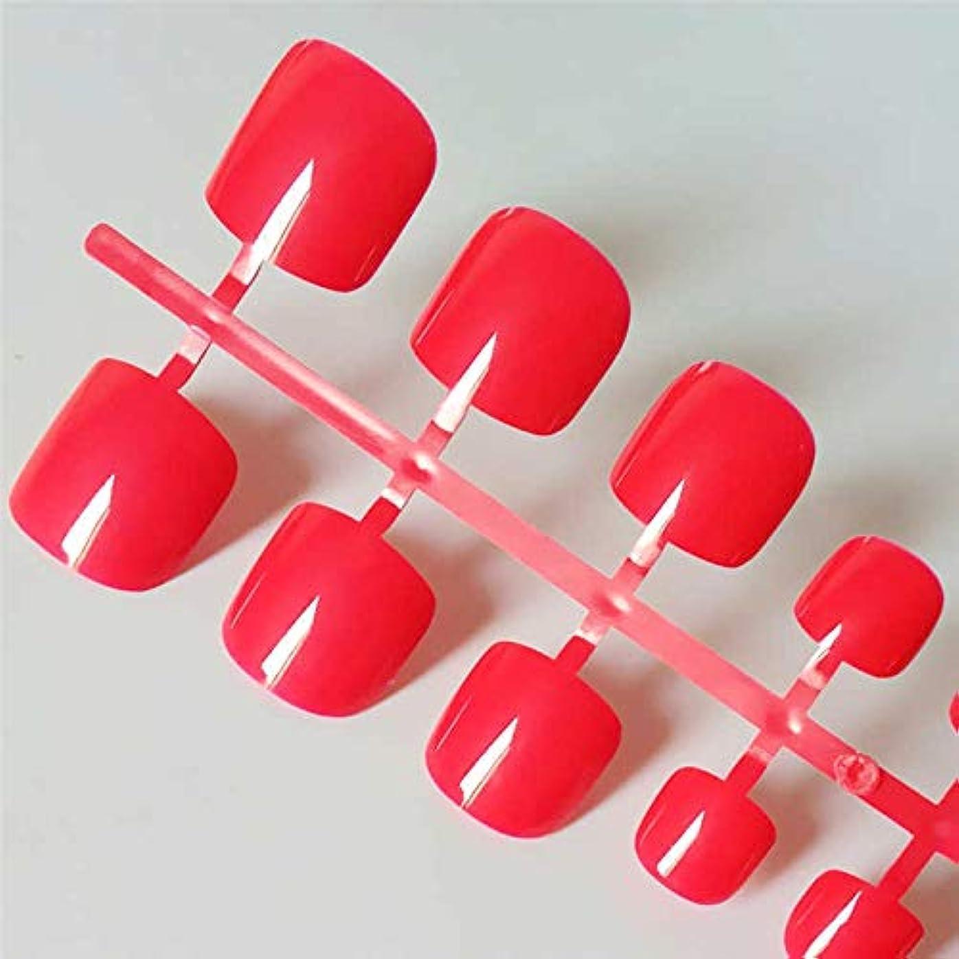 提供する密接に神社XUTXZKA 人工的なキャンディーカラーの偽足指の爪の明るい緑色の偽足の広場プレス