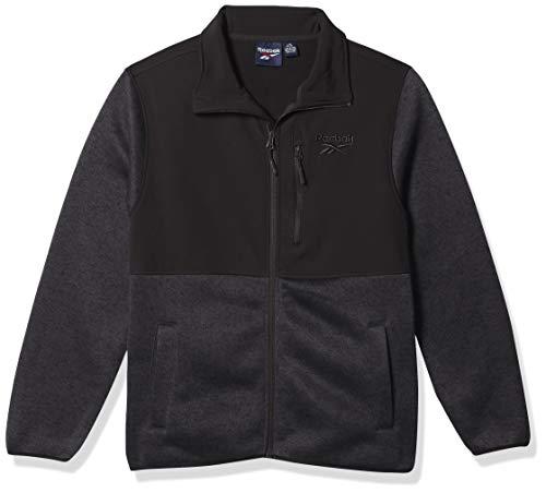 Reebok BOY Climb Jacket with Soft Woven, CHB CHARCO HTR/BLACK, 10-12