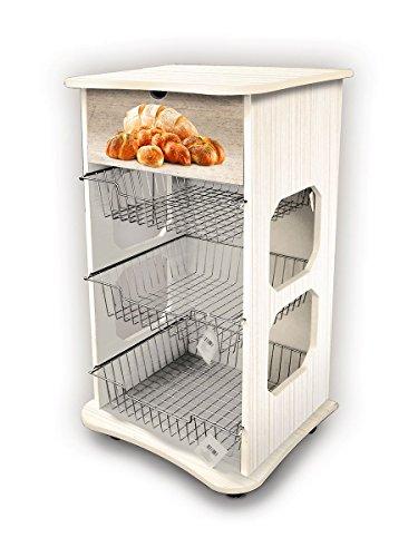 Mehrzweck-Küchenwagen Maßnahmen 40x 45Höhe 85cm Shabby Brot