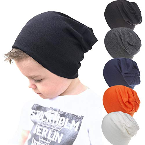 Unisex Baby Toddler Beanie Worm Soft Caps Baby Hats(5 Packs)