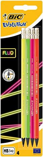 BIC 942053 Fluo potlood Evolution Fluo HB Met gum. geel