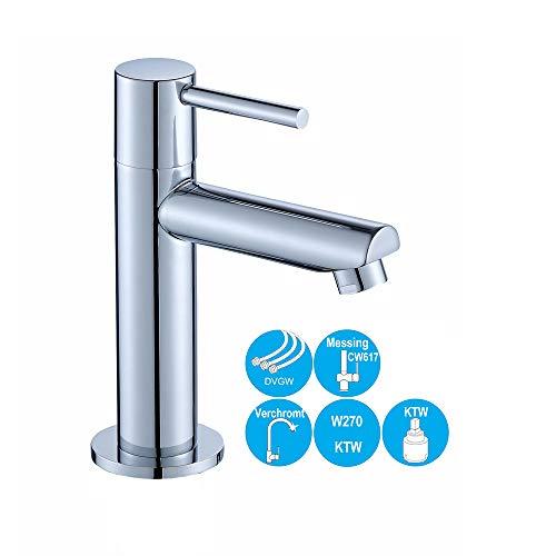 JOHO Kaltwasserhahn Kaltwasser Waschtischarmatur Waschbeckenarmatur Badzimmerarmatur Gäste WC
