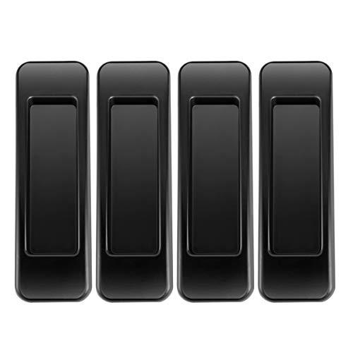 Manijas de puerta autoadhesivas, Manijas de seguridad negras para gabinetes de puertas y ventanas tipo pasta, Manijas de muebles, Interruptores de puertas y ventanas convenientes (4)