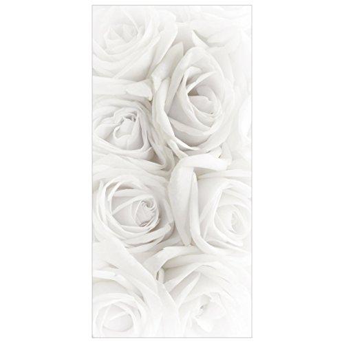 Bilderwelten Raumteiler Top Blumen Raumtrenner Weiße Rosen 250x120cm mit transp. Halterung