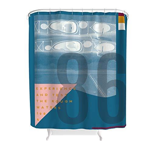 Text Nummer Grafische Kombination Duschvorhang Anti-Schimmel Wasserdicht Waschbar Duschvorhänge Anti-Bakteriell Umweltfre&lich Polyester Stoff mit Vorhanghaken Badvorhang für White 180x200cm