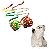 TOSSPER Cuerda del Gato 1pc De Felpa De Bola del Color Juguete Pelota Dentro De Juguetes para Gatos Juguetes para Mascotas