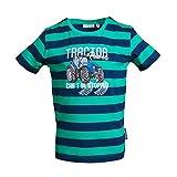 SALT AND PEPPER Jungen Tractor Stripes T-Shirt, Simply Green, 116/122