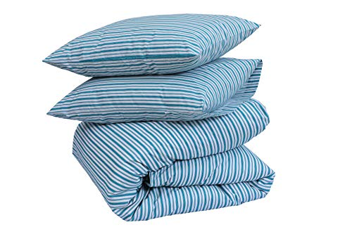 Sleep&Beyond Designer Printed Duvet Cover Sets (Jade Stripes, Double)