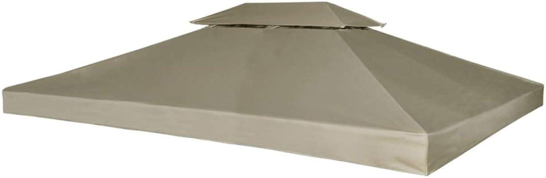 VidaXL Water-Proof Gazebo Cover Canopy 310g m2 Beige 3x4m Outdoor Pavilion Top