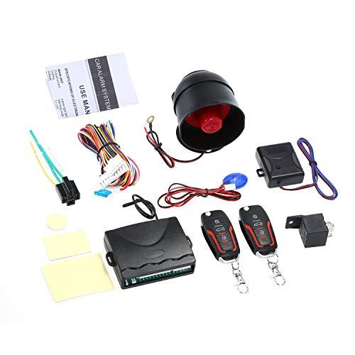 KKmoon Universal Auto Türschloss Keyless Entry System Zentralverriegelung Fernbedienung Kit mit 2 Klappschlüssel