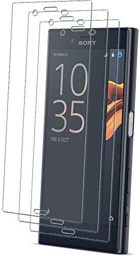 TECHGEAR [3 Piezas Protector de Pantalla Compatible con Sony Xperia X Compact [ghostSHIELD] Reforzada Flexible TPU Protector de Pantalla con Cobertura de Pantalla Completa inclusiva Pantalla Curva