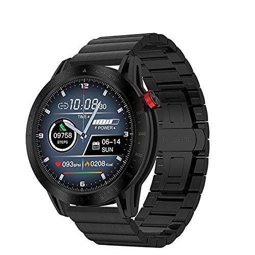 LJMG Reloj Inteligente, Reloj Deportivo para Hombres FT03, Natación, Ritmo Cardíaco, Monitoreo del Sueño, Reloj De Alarma A Prueba De Agua VSL13 Reloj para iOS Android,B