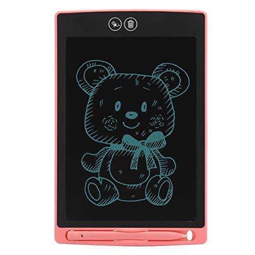 Germerse Tableta LCD, Tablero de Escritura de Tableta electrónica, Tableta de Mensajes, Decoración para Pintar Memos Niños(Pink)