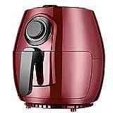 OUJIE 4.0L Freidora De Aire Sin Aceite,Multifuncional 360 °Alta Velocidad Aire Ciclo Termal Freidora Aire 1200W,Automático Acero Inoxidable Tubo De Calentamiento Freidora Eléctrica,Rojo