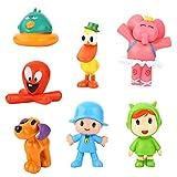 New Pocoyo Toys Set of 7 PCS – Best Action Figure Dolls – Amazing Mini Toys Pocoyo, Nina, Elly, Pato, Fred, Loula, Sleepy Bird – Cartoon Characters Figures Party, Cake Decorations