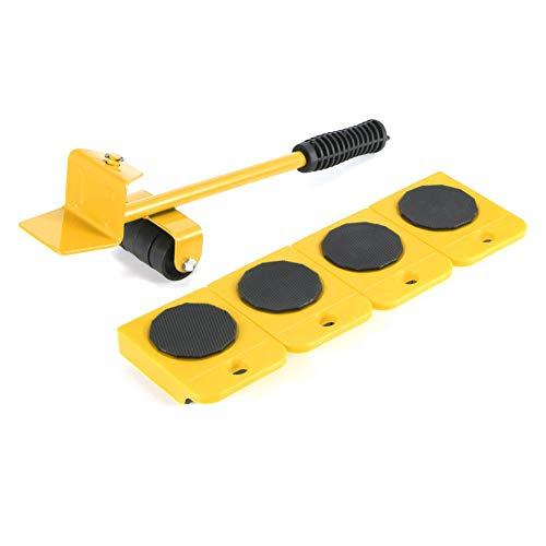 5 STÜCKE Möbelheber Mover Tool Set Einfache Möbel Slider Schwere Möbelrolle Bewegen Bis Zu 150 KG Geeignet Für Sofas, Sofas Und Kühlschränke (gelb)