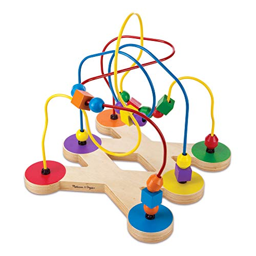 Melissa & Doug Classic Bead Maze - The Original (Wooden Educational Kids Toy, Great Gift for Girls and Boys - Best for Babies and Toddlers, 12 Month Olds, 1 and 2 Year Olds)