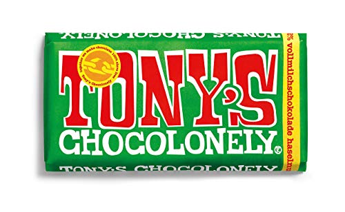 Tony's Chocolonely Milk Chocolate 32% con avellanas 180 g