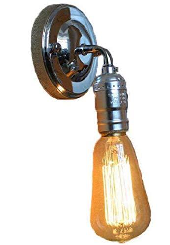 Meixian Wandlamp, eenvoudige oude modieuze ijzeren wandlamp, met knop schakelaar, bedlampje, gangbalkon, hotelcafé-vereniging, wandlampbevestiging, 90 V-240 V, E27, eenvoudig retro