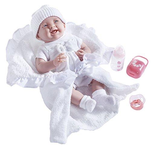Soft Body La Newborn in White Bunting and Accessories.