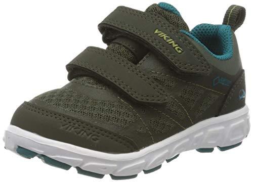 viking Unisex-Kinder Veme Vel GTX Sneaker, Grün (Huntinggreen/Olive 2437), 27 EU