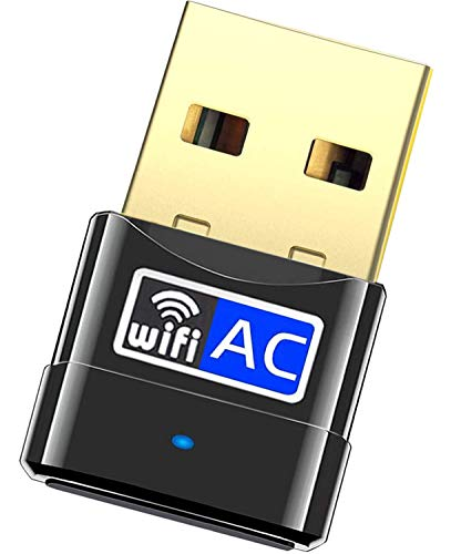 USB WiFi Adapter for Desktop pc- Dual Band 600Mbps Wireless Network Adapter, WiFi Dongle for PC/Desktop/Laptop, Support Windows 10/8/8.1/7/Vista/XP/2000, Mac OS 10.6-10.13 (All-New USB WiFi Adapter)