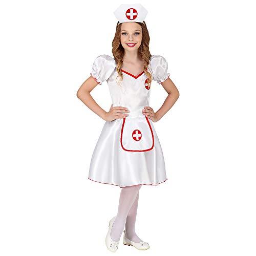 WIDMANN 85875 Kinderkostüm Krankenschwester Mädchen Weiß, Rot 116