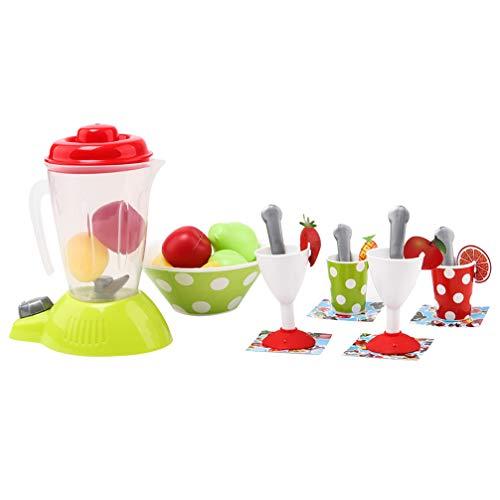 NUOBESTY Juguete de electrodomésticos de Cocina para niños: Juego de electrodomésticos de Juego de imaginación Que Incluye licuadora de Jugo Frutas y Tazas 27 Piezas