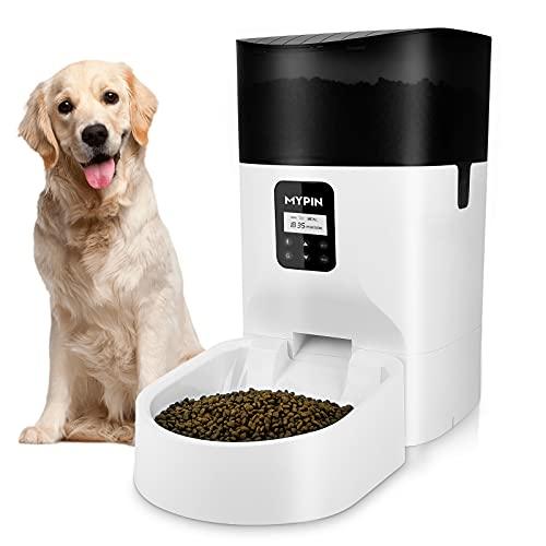 Mangiatoia Automatica per Gatti, Distributore di Cibo da 7 Litri per Cani e Gatti, Controllo Delle Porzioni, Registratore vocale, Timer Programmabile Fino a 4 Pasti al Giorno