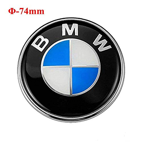 Emblem für Heckklappe, 74 mm, kompatibel, mit blau - weißem Logo, 3er Serie, 5er Serie, 6er Serie, 7er Serie, X1, X3, X5