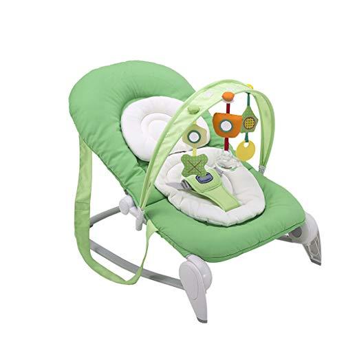Xiao Jian- Chaise de Confort Nouveau-né de Berceau de Fauteuil inclinable léger portatif léger et Pliable de Chaise Chaise berçante bébé (Couleur : Green)