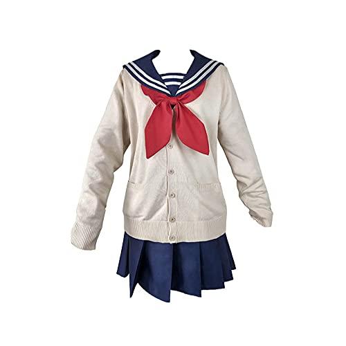 Cosplay Kostuum Halloween Maskerade Mijn Hero Academia Himiko Toga Anime JK Schooluniform Pakken voor Vrouwen Sexy M Beige