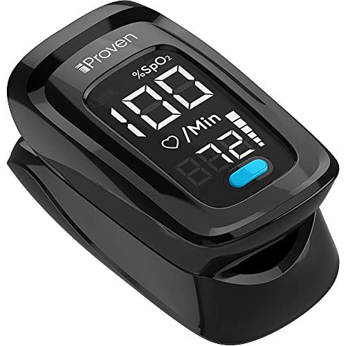 iProven Oximeter OXI-27iBL - saturatiemeter zuurstofmeter vinger - hartslagmeter - oximeter - zwart
