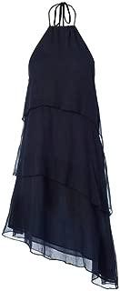 Navy Tiered Mini Dress