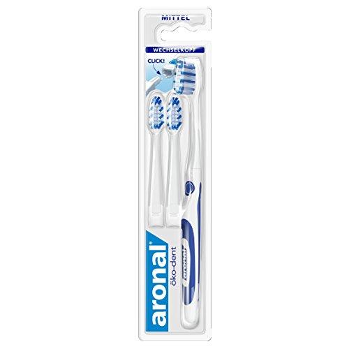 Aronal öko-dent Zahnbürste, mittel, 2er Pack (2 x 1 Stück)