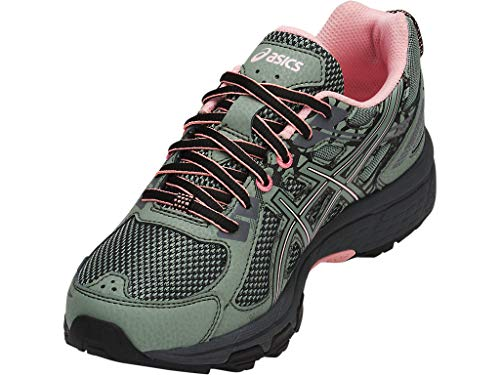 ASICS Women's Gel-Venture 6 Trail Running Shoes, 10M, Slate Grey/Frosted Rose 8