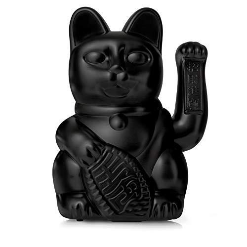 DONKEY Productos: Gato de la suerte grande, negro, gato de esquina grande, en diseño japonés Maneki Neko, 30 cm de alto